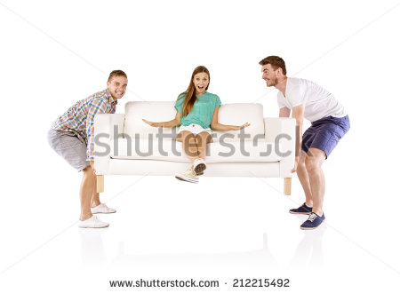 stock-photo-two-young-handsome-men-lifting-sofa-with-young-beautiful-woman-sitting-on-it-isolated-on-white-212215492